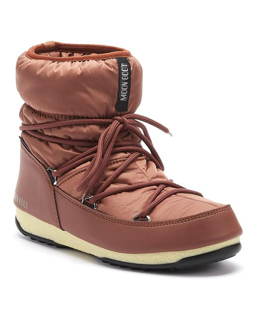 Moon Boot Brown Nylon Low 2 Womens Rust Boots