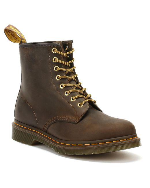 Dr. Martens Dr. Martens 1460 Crazy Horse Womens Aztec Brown Leather Ankle Boots
