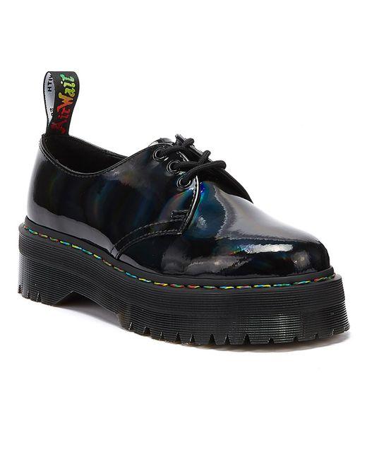 Dr. Martens Dr. Martens 1461 Quad Patent Rainbow Womens Black Shoes