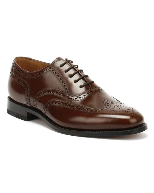 Loake Mens Brown 202t Brogue Leather Shoes for men