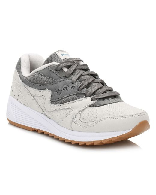 Saucony | Gray Grey Grid 8000 Trainers | Lyst