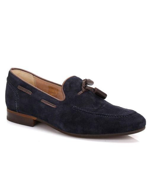 Hudson | Blue Mens Navy Pierre Suede Loafers for Men | Lyst
