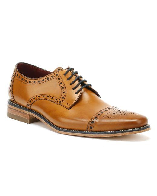 Loake Brown Mens Tan Calf Foley Brogue Shoes for men