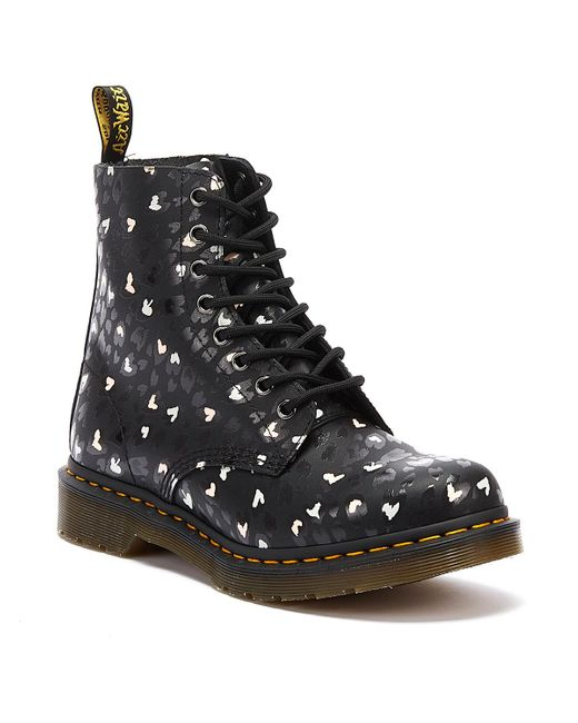 Dr. Martens Dr. Martens 1460 Pascal Backhand Hearts Womens Black Boots