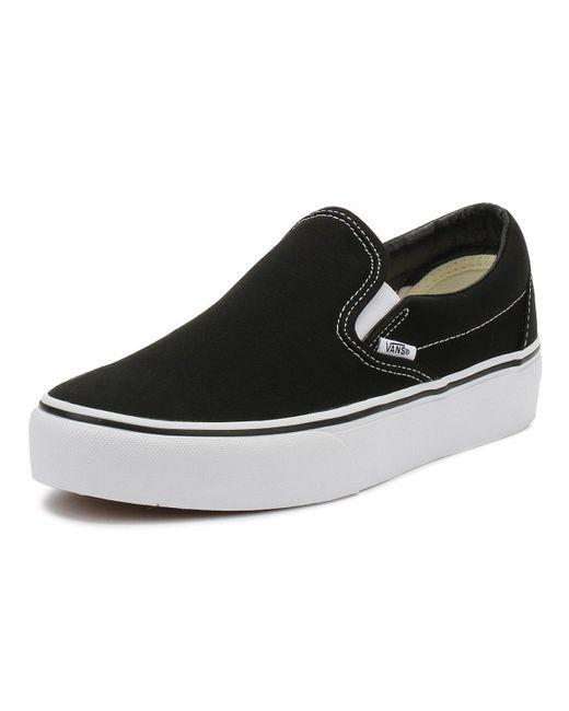 Vans Womens Black Classic Slip On Platform Trainers