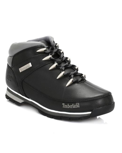 Timberland Black Euro Sprint Hiker Boots for men