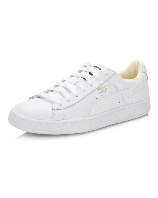 60c05a79bd62 ... PUMA - Mens White Basket Classic Leather Trainers for Men - Lyst ...