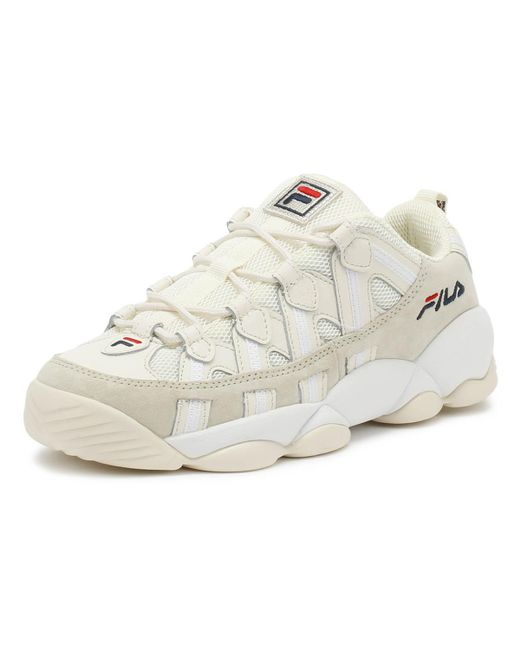 Fila Suede Spaghetti Low White Trainers for Men - Lyst