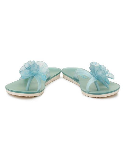 bfdf5a47a9d ... Zaxy - Blue Womens Aqua Ice Flower Flip Flops - Lyst ...