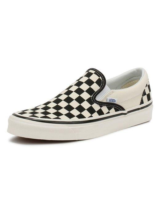Vans Anaheim Factory Slip-on 98 Dx Black Checkerboard Trainers