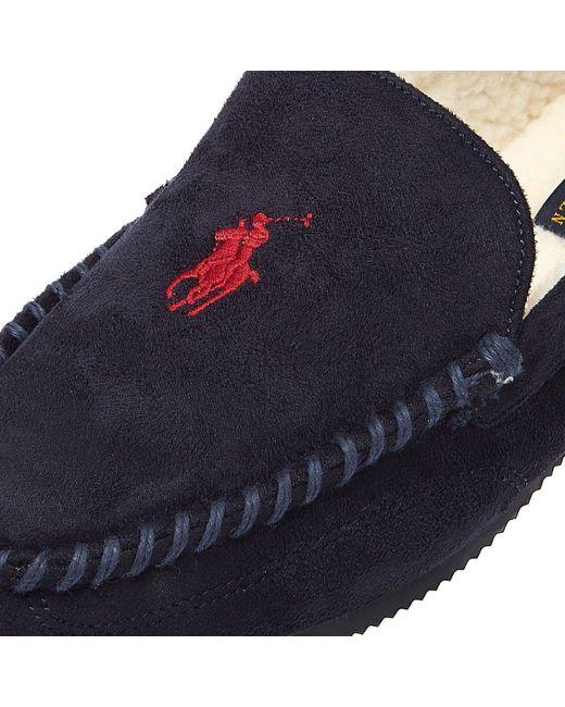 Ralph Lauren Blue Dezi Iv Mens Navy / Red Slippers for men