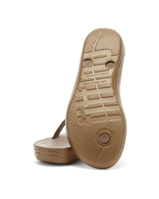 f44aef3ab05f61 ... Fitflop - Multicolor Womens Bronze Iqushion Ergonomic Flip Flops - Lyst  ...