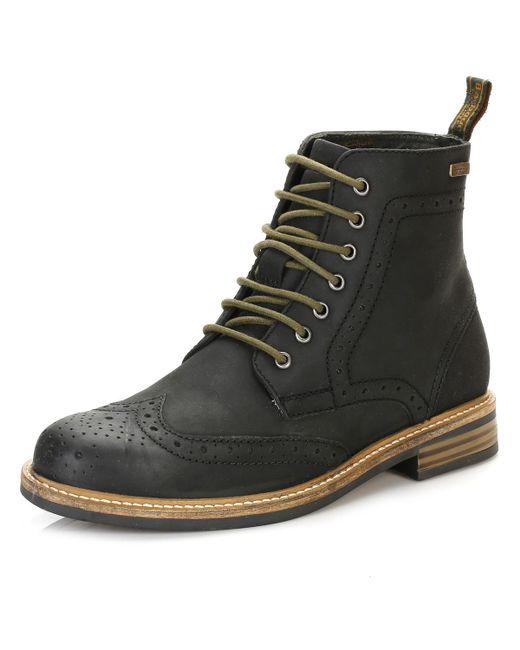 b47fb814da9 Barbour Mens Black Belsay Brogue Boots in Black for Men - Lyst