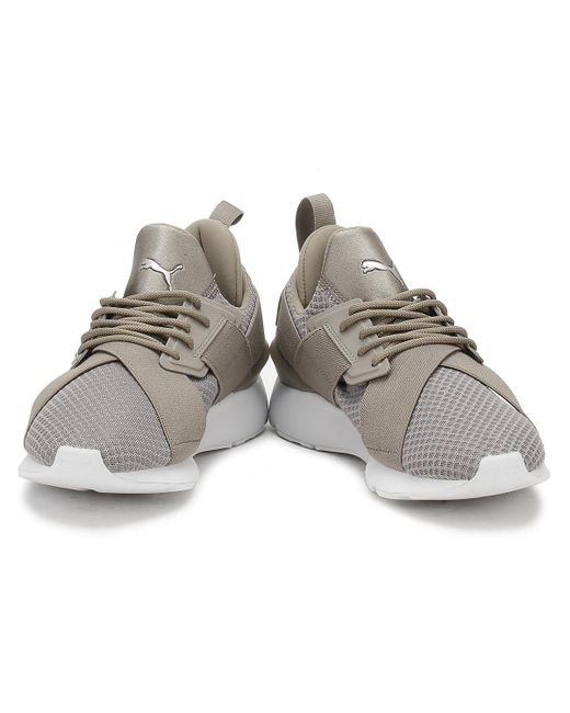 8d4be745ee59 ... PUMA - Gray Womens Rock Grey Muse X-strap Ep Trainers - Lyst ...