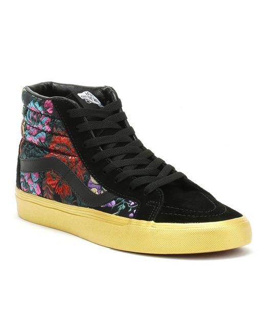 Sk8 hi Reissue Festival Satin Womens Black Sneakers