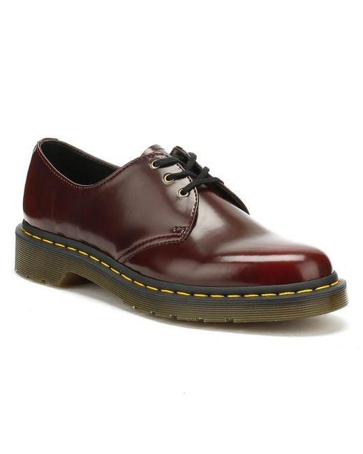 Dr. Martens Dr. Martens 1461 Vegan Cherry Red Shoes for men