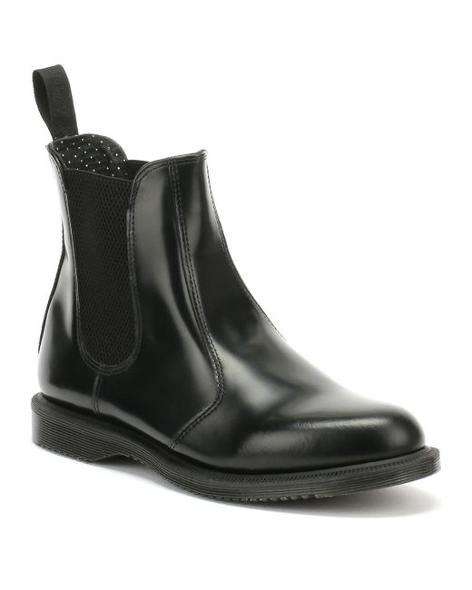 Dr. Martens Dr. Martens Flora Womens Smooth Black Leather Boots