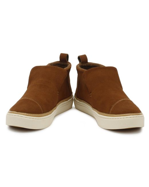 f3f1edaf207 Womens Dark Amber Brown Suede Paxton Shoes