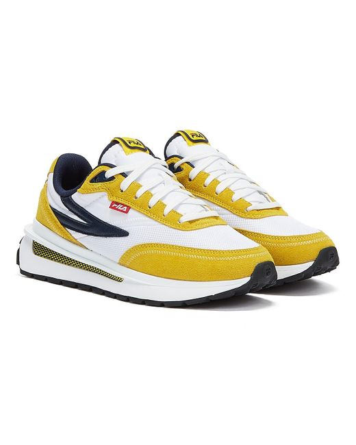 Fila Blue Renno Yellow Trainers for men
