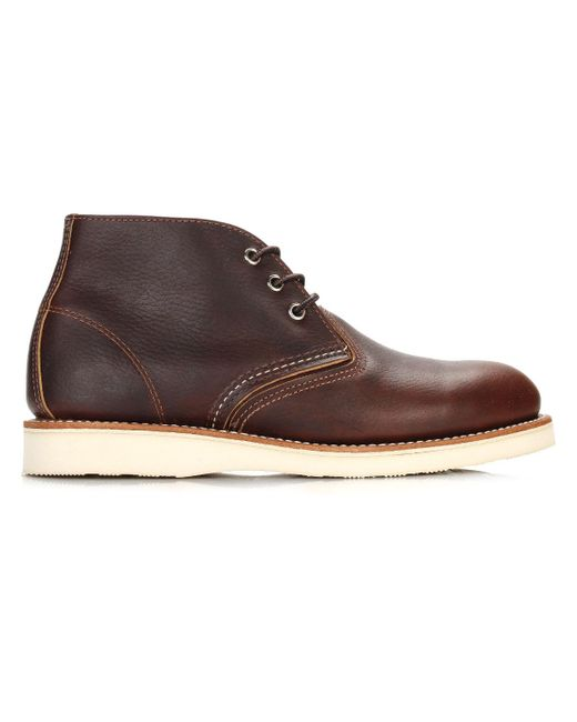 Red Wing - Brown Mens Briar Oil Slick Work Chukka Boots for Men - Lyst