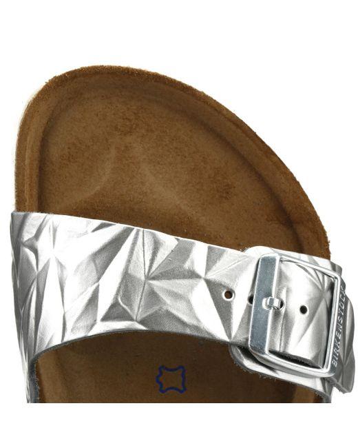 d5987c9cb533 ... Birkenstock - Metallic Womens Spectral Silver Arizona Sandals Women s  Mules   Casual Shoes In Silver ...