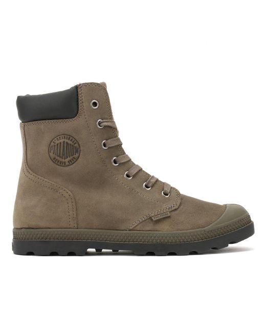 Palladium - Womens Major Brown Knit Pampa Hi Cuff Boots - Lyst