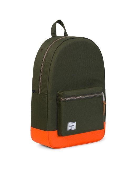 124c10fcae Herschel Supply Co. . Settlement Backpack Green   Orange in Green ...