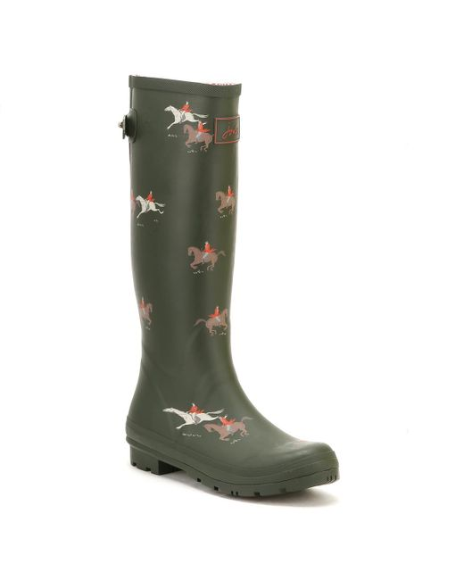 Joules - Green Womens Olive Horse Ajusta Welly Boots - Lyst