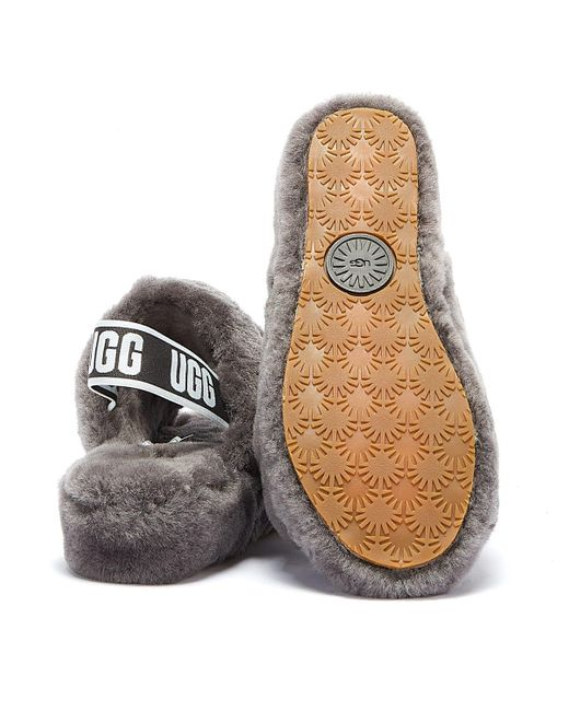 Ugg Gray Fluff Yeah Womens Charcoal Grey Slippers