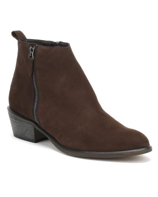 Cara - Womens Chocolate Dark Brown Nubuck Fern Ankle Boots Women's Low Ankle Boots In Brown - Lyst