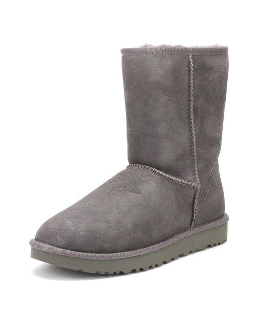 2c7bf385064 Gray UGG Womens Grey Classic Short Ii Boots