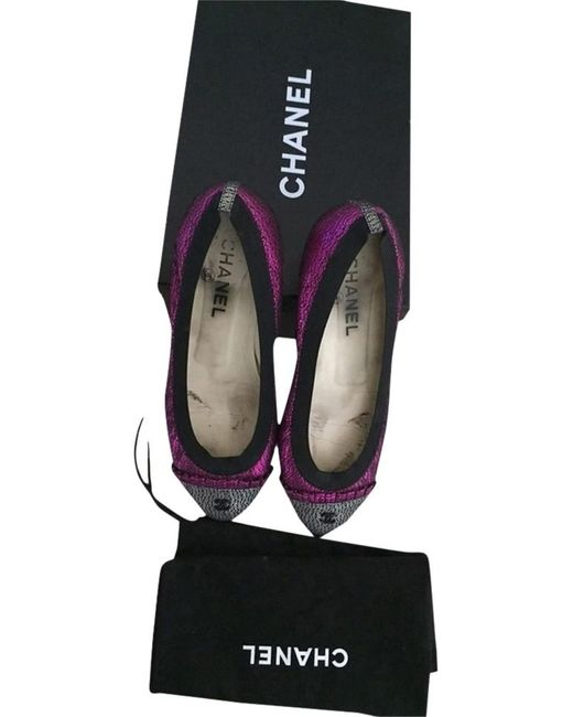 taglia 40 stilista vasta gamma Chanel Fuchsia Ballerines Flats - Lyst