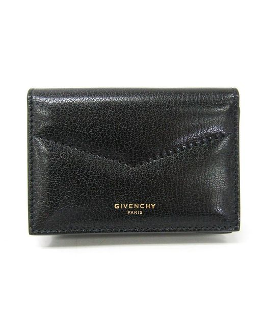 Givenchy Black Leather Business Card Case Wallet