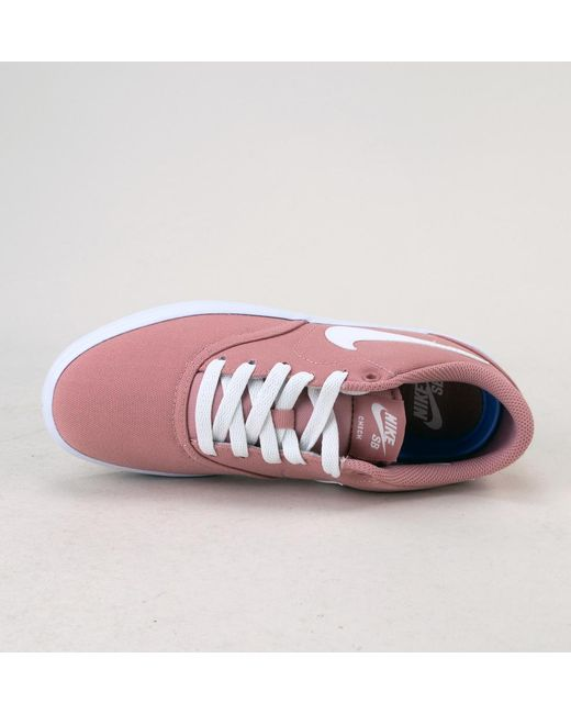 8063afd7299e ... Nike - Multicolor Wmns Sb Check Solar Cnvs Rust Pink-summit White  Trainers - Lyst ...