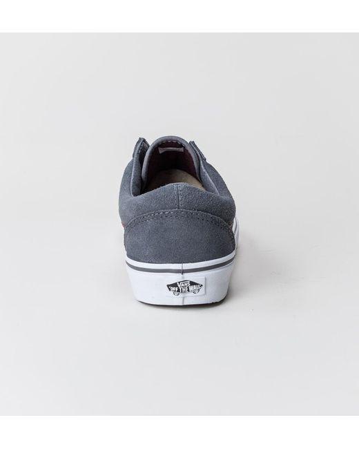 ... Vans - Blue Old Skool (reptile) Gray-port Royal Trainers for Men ... fe67ead8f