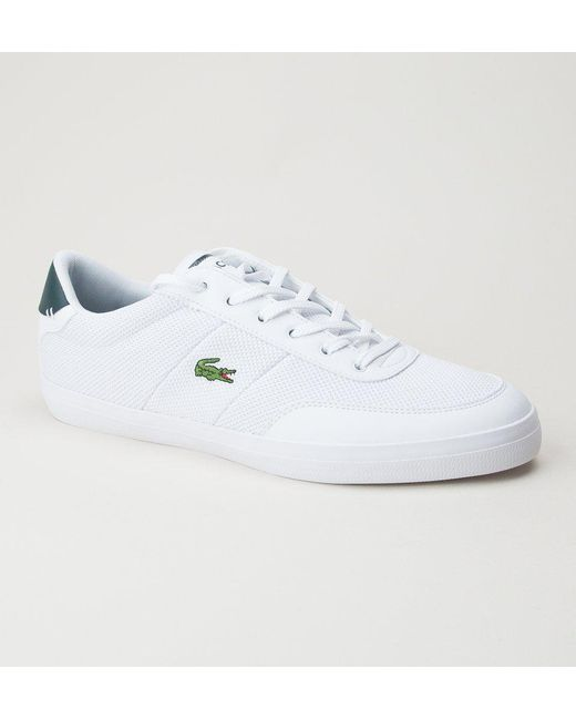 c6501f8d4 Lacoste Court-master 118 3 Cam Wht-dk Grn Trainers in White for Men ...