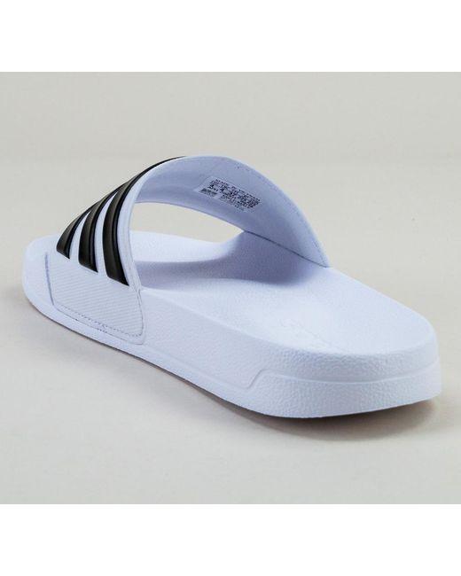 premium selection 4613c 862e7 ... Adidas - Blue Adilette Shower Aq1702 Wht-blk-wht Sandals for Men - Lyst  ...