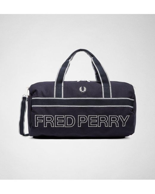 Fred Perry - Blue Fred Perry L2206 Sports Canvas Barrel Bag Bags for Men -  Lyst ... fddeddd5a26ba
