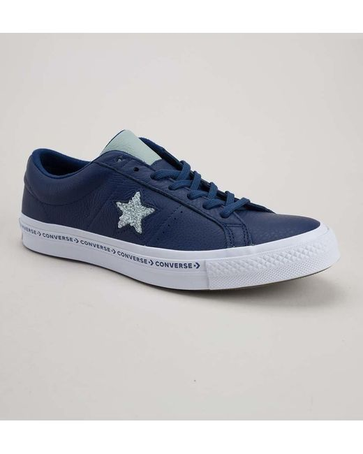 236fcee6204 Converse - Blue 159722c One Star Ox Navy-dried Bamboo-white Trainers for Men  ...
