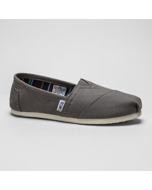b2f3a6c9bc6 TOMS - Black Classic Canvas Shoes for Men - Lyst ...