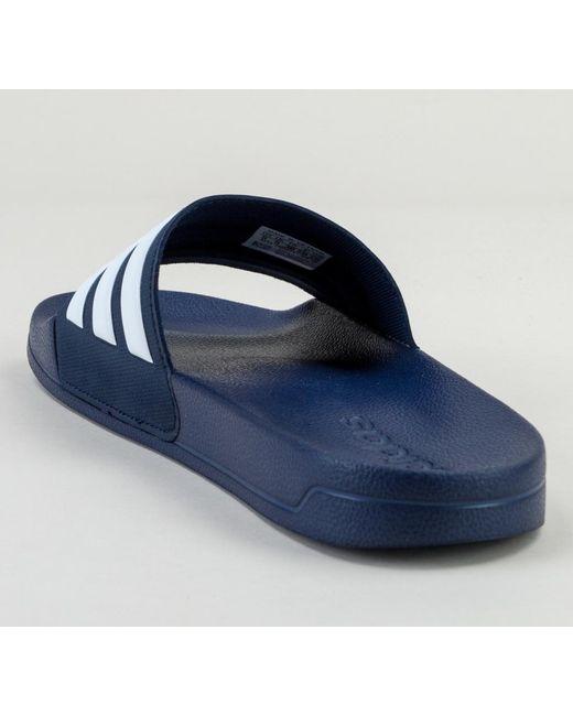 new product bf9b1 3fcda ... Adidas - Blue Adilette Shower Aq1703 Navy-wht-navy Sandals for Men -  Lyst ...