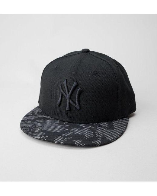 d3d0e73eaab9e5 ... low cost ktz black new era night time 5950 ny yankees hats for men lyst  9d6ea