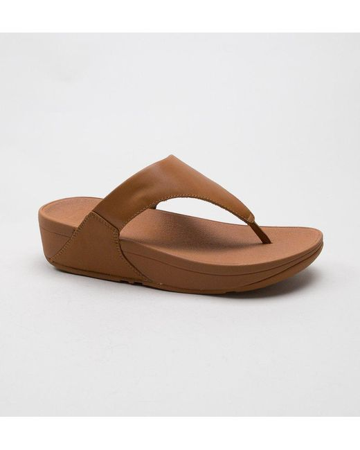 acfe354777b416 Fitflop - Brown Lulu Leather Sandals - Lyst ...