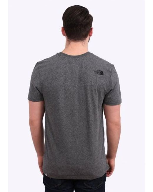 The North Face - Gray Simple Dome Tee Grey for Men - Lyst