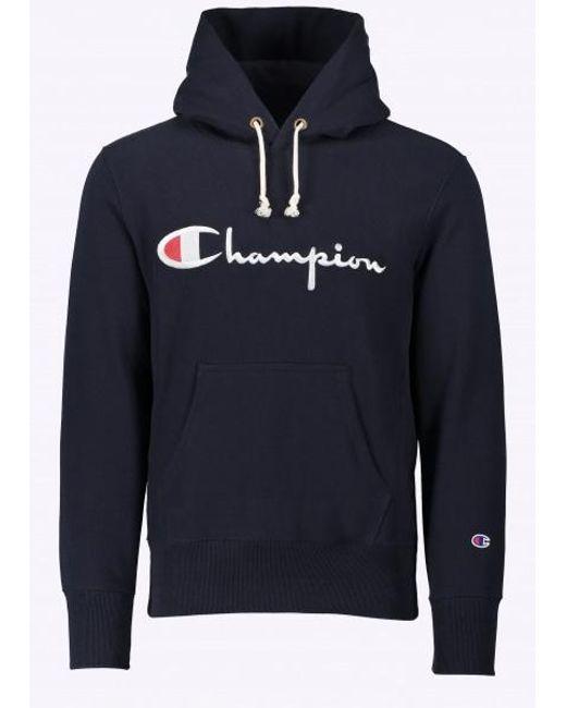 Champion   Blue Hooded Sweatshirt for Men   Lyst
