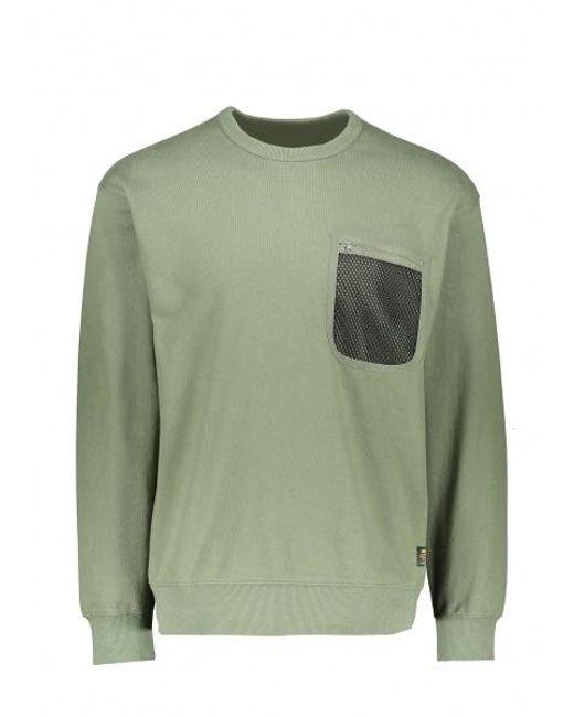 Carhartt WIP Green Military Mesh Pocket Sweat for men