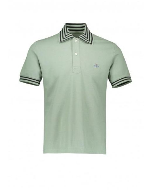 4efc5fd8d Vivienne Westwood - Green Ss Stripe Collar Polo for Men - Lyst ...