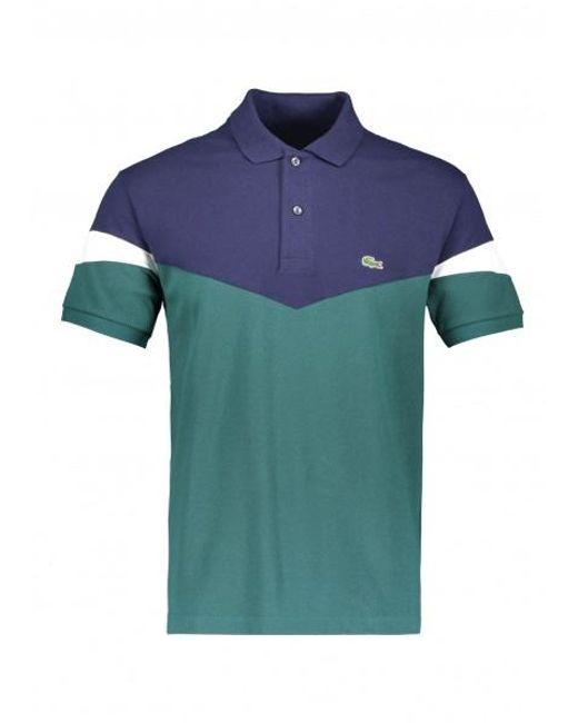 3e4e684532 Lacoste - Blue Colorblock Polo for Men - Lyst ...