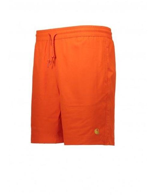 cfbcdd7822903 ... Carhartt - Orange Chase Swim Trunks for Men - Lyst ...