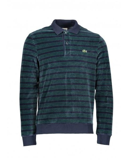 392c6ef517 Lyst - Lacoste Ls Stripe Polo in Blue for Men - Save 50%